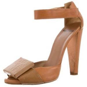 Pierre Hardy Brown Leather Anckle- Starp Pumps